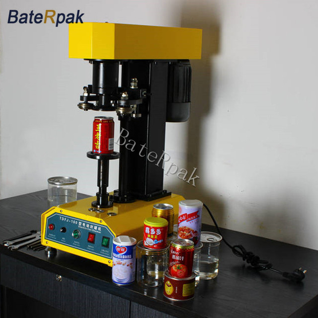 TDFJ-160 BateRpak automatic container capping machine,cans sealing machine,paper cans,PET plastic tank,cover pot metal machine