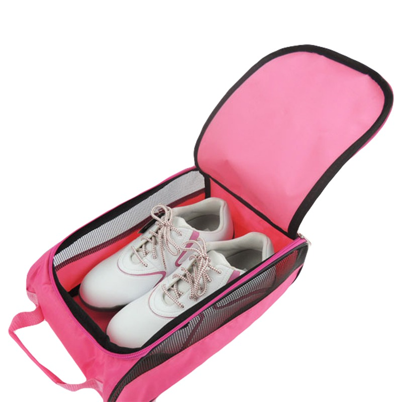 Golf Shoe Bag Durable Golf Shoe Package Zipper Travel Carrier With Mesh Ventilation Golf Accessory Outdoor Sports Organizer