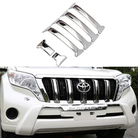 For Toyota Land Cruiser Prado 150 FJ150 Chrome ABS Front Mesh Grille Cover 2014 2015 2016 2017 Car Styling Accessories