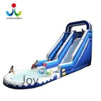 Задворк раздувное скольжение детей с небольшим бассейном, на открытом воздухе раздувными скольжениями и вышибателями к потехе