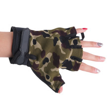 1 Pair of Anti Slip Half Fingerless Outdoor Sports Camping Cycling font b Gloves b font