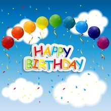 3fb8dace92 Laeacco Cloud Birthday Baby Child Balloon Sky Scene Photography Backgrounds