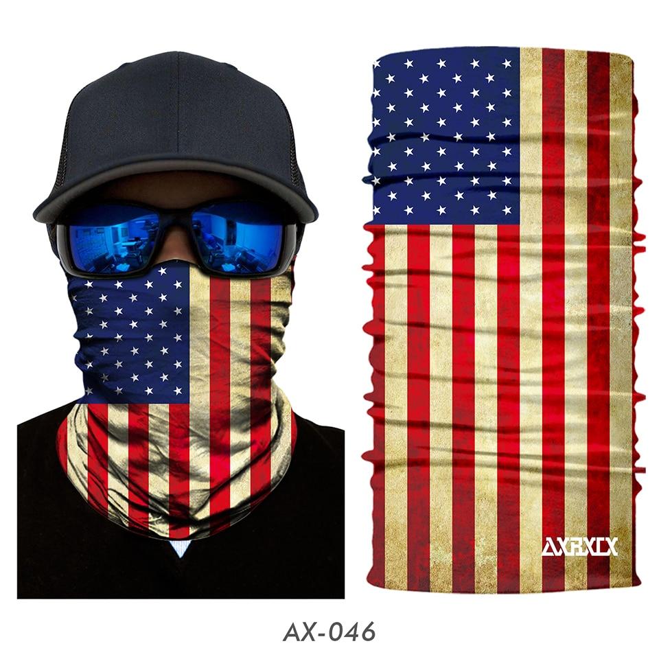 3D National flag Print Scarf Neck Gaiter Bandana Circle Loop Summer Sun Protective Neck Tube Ring Scarves Men Headwear Balaclava
