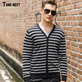 TANGNEST Men's Casual Sweater 2017 New Fashion Men Spring Striped Sweaters Male Slim Comfortable Easy Match Youth Coat MZL682