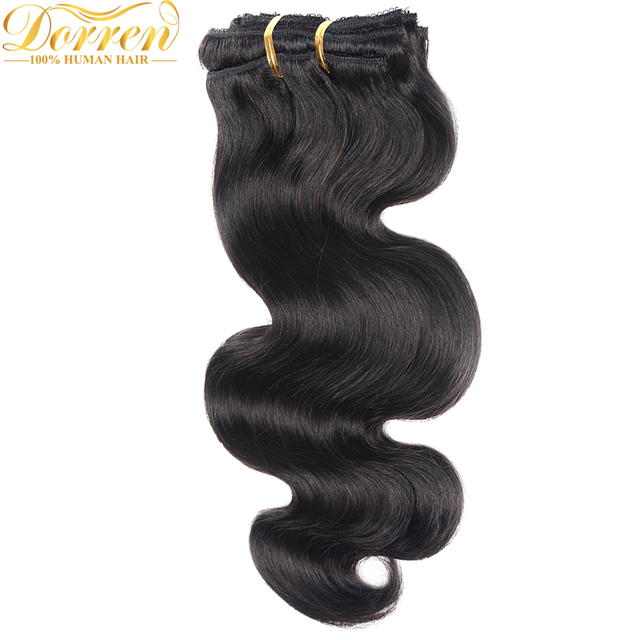200G Full Head Clip In Human Hair Extensions Brazilian Machine Made Remy Hair 100% Human Hair Natural Black Color By UPS 3