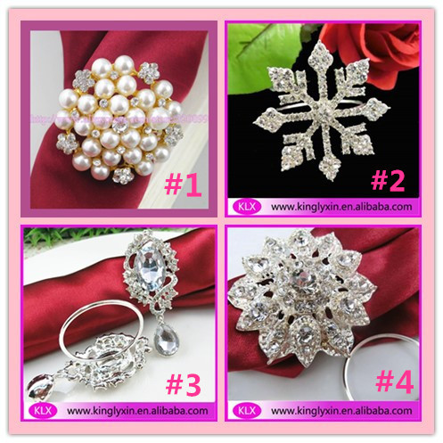 (200pieces lot) wholesale! metal rhinestone napkin rings for table  decoration (200pieces just one style ) 35654f0e6e89