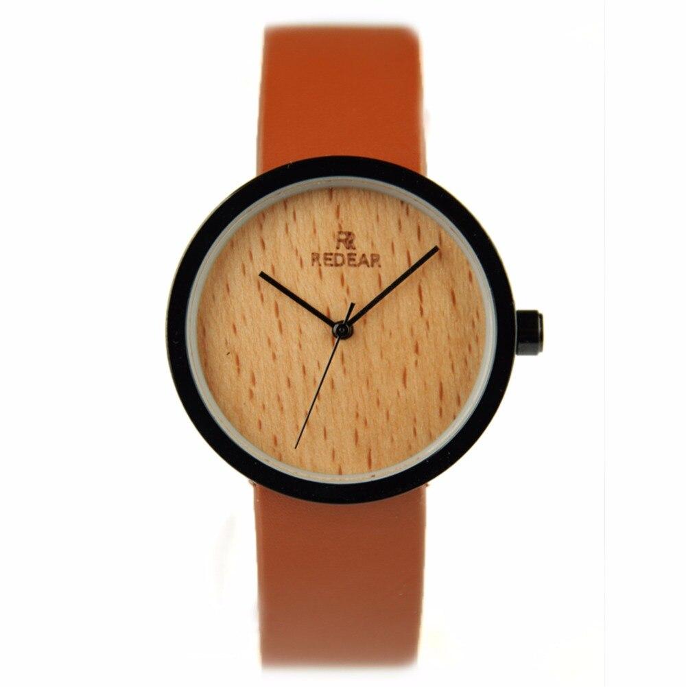ФОТО Women Watches Top Brand Luxury Wooden Watch Fashion Genuine Leather Strap Quartz Wristwatches Clock