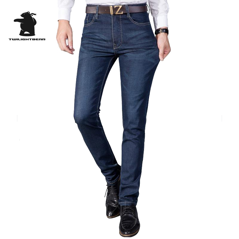 New Men s Casual Jeans Designer 2016 Fashion High Quality Plus Size Elastic Cotton Business casual