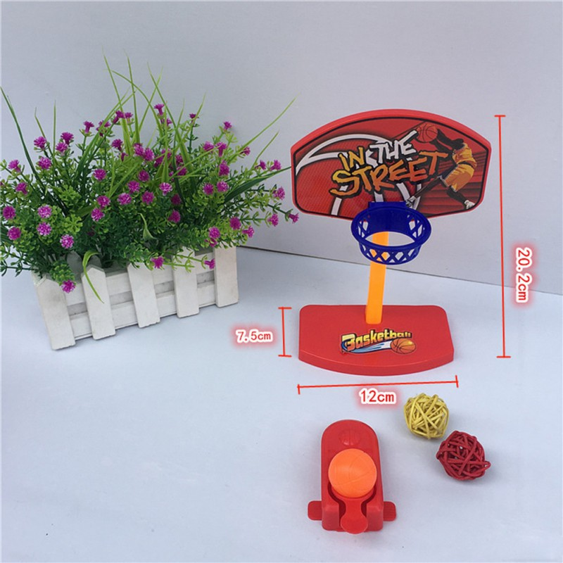 Mini Parrot Shooting Basketball Stand Hoop Basket Desktop Bird Playing Toy Pet Supplies