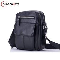 Genuine Leather Bag Men Messenger Bags Men S Crossbody Bag Small Sacoche Homme Satchel Man Cow