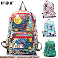2015 vivisecret Boy's Kid's Children School backpack Mochilas infantil knapsack  infantry pack Satchel Bag Cute Cartoon Printing
