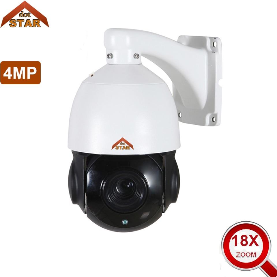 Stardort IP PTZ Camera HD 4MP 2592x1944 18x Optical Zoom Outdoor Waterproof Speed Dome Camera 80m IR Night Vision Network Camera