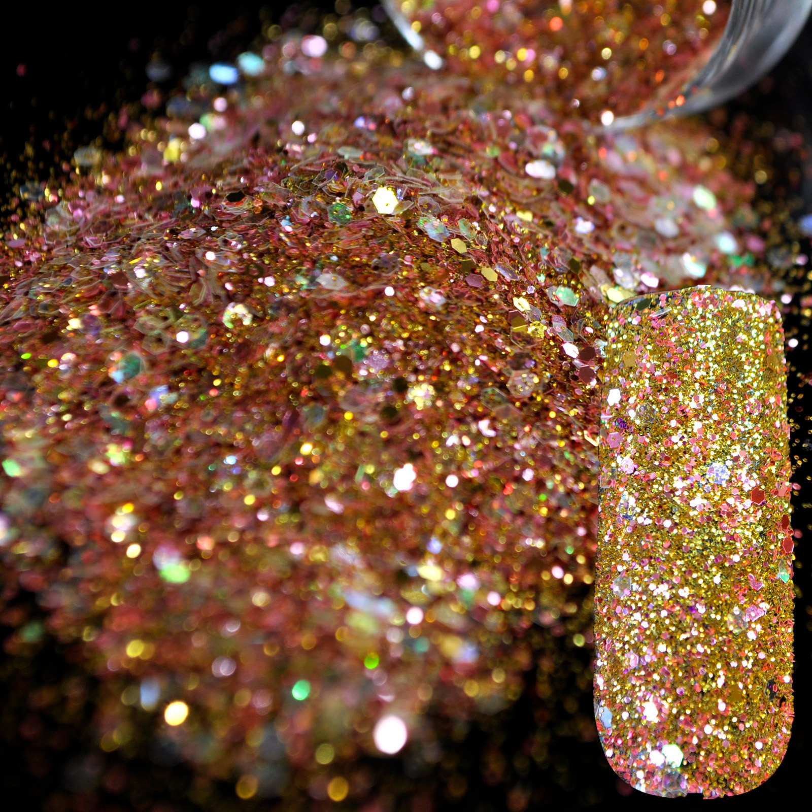 Dazzling abalone sequins dust dust nail glitter for Acrylic nail decoration supplies