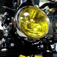 오토바이 레트로 헤드 라이트 앰버 라이트 야마하 스즈키 혼다 cg125 카페 레이서 bobber motocicleta 램프 라이트 -
