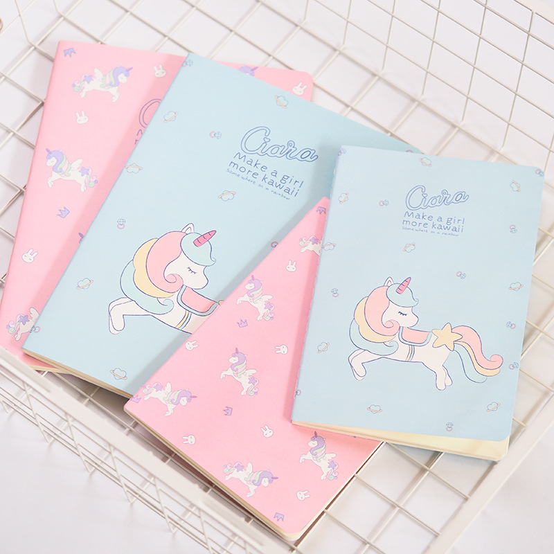 Maiden Unicorn B5 A5 Notebook Diary Book Exercise Composition Notepad Escolar Papelaria Gift Stationery цена