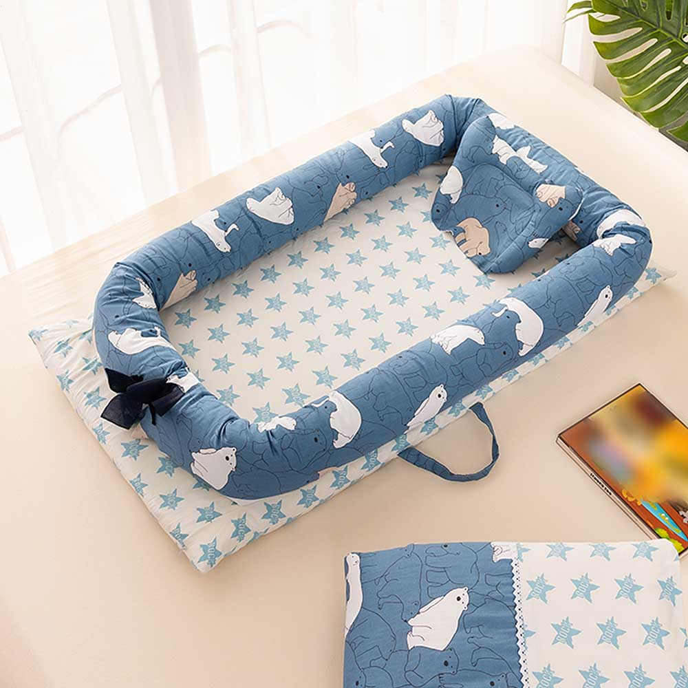 Baby Nest Bed Portable Foldable Baby Crib Newborn Sleep Cotton Bed Travel  Crib Fence Bed  Baby  In Car Safety Nest Soft Cradle