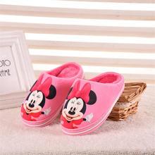 2019 ใหม่สุภาพสตรีผู้ใหญ่รองเท้าแตะการ์ตูนรองเท้าแตะผ้าฝ้ายอุ่น Chi Minnie คู่รองเท้าแตะ EU ขนาด 35 40