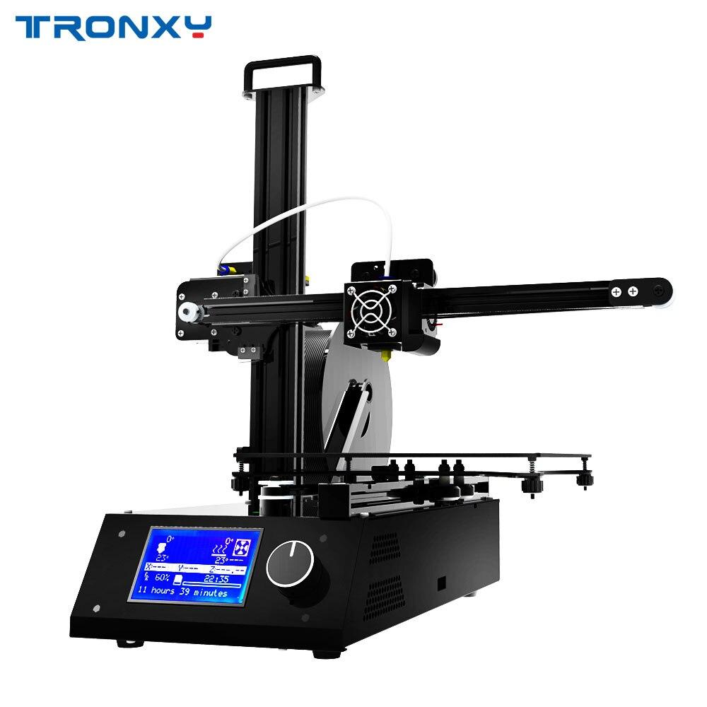 Tronxy X2 drukarka 3D diy Kit pełna metalowa rama duży rozmiar wydruku 220*220*220mm z gorącym łóżkiem użyj ABS PLA Filament szybki montaż