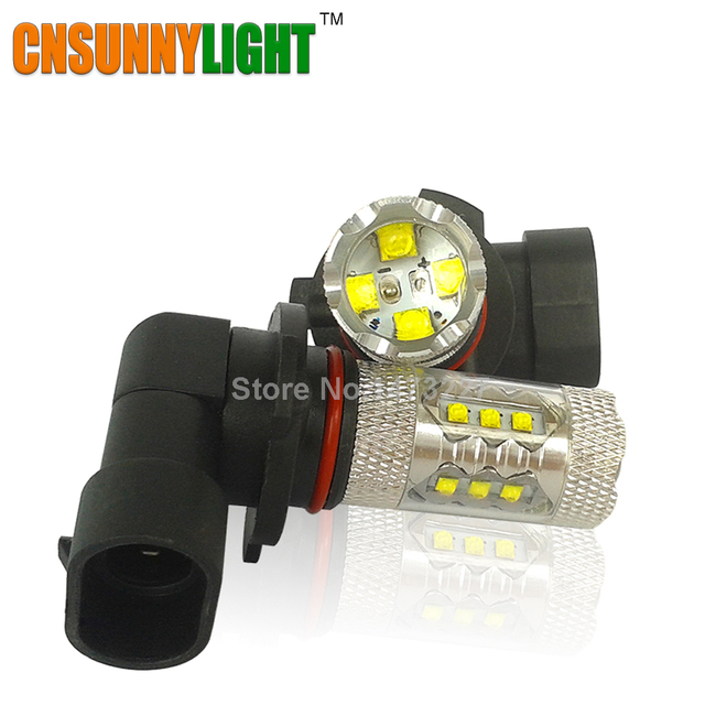 CNSUNNYLIGHT HB3 9005 80W LED Bulbs for Cars With High Power XB-D Chips 6000K Xenon White Automobiles Head DRL Fog Lights Source