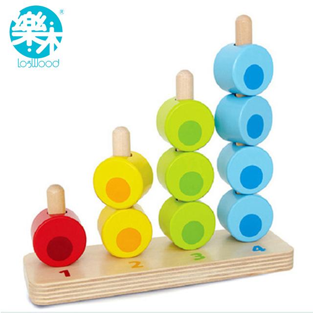 Montessori juguetes de Madera Educativos del conde y matemáticas matemáticas Juguete Kid Montessori Enseñanza sida bloques juguetes de madera