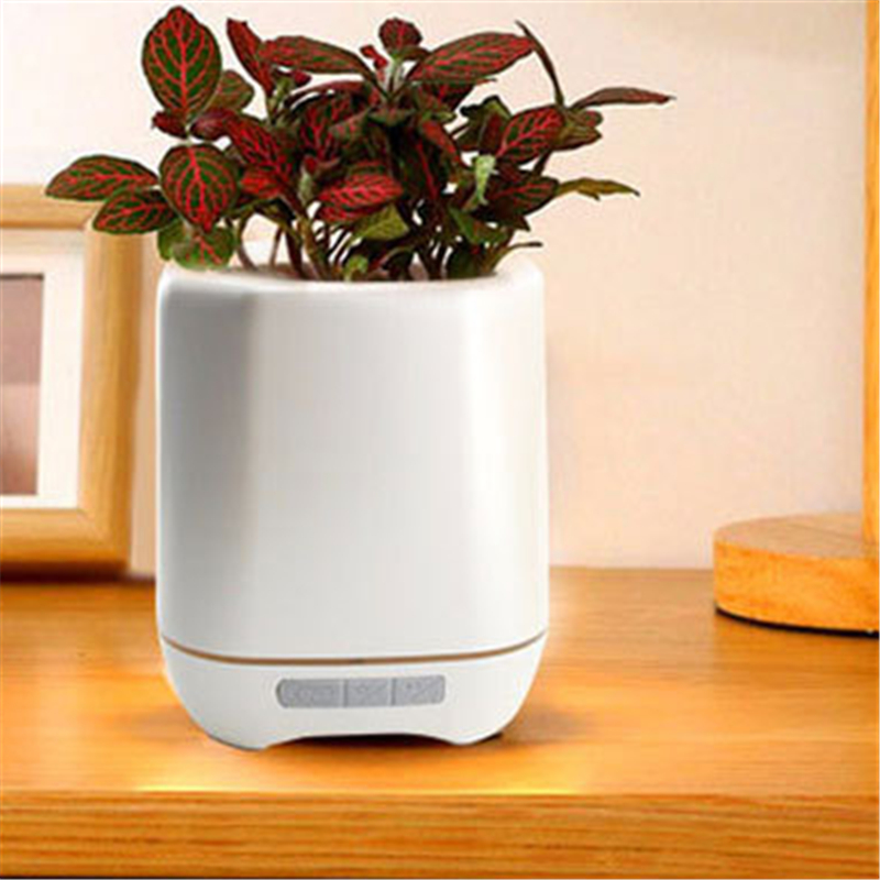 Colorful LED Desk Table Night Light Music Flowerpot Bluetooth Smart Speaker Gift Lamp Touch Sensor Home Office Garland Decor led night lamp decorate dream bluetooth voice speaker christmas ever fresh flower creative music box rechargable desk light gift
