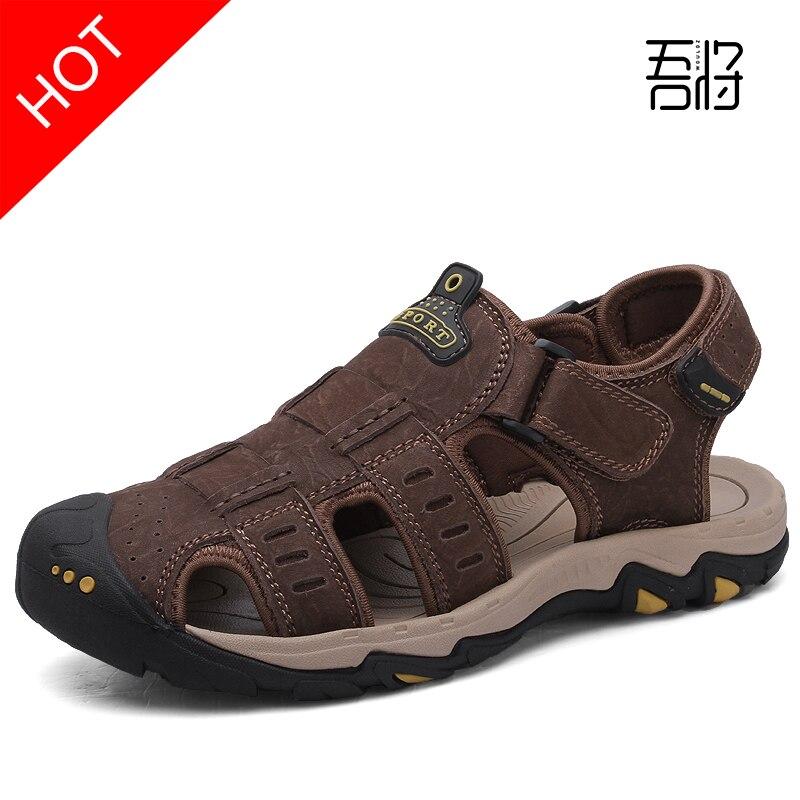 Sandales gladiateur homme sandales homme cuir véritable Crocse Sandalias Hombre Sandles Sandalet Croc Sandali grande taille 38 39-46 47