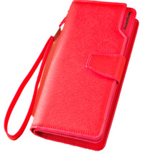 New arrival Long Women Purse Wallets cross pattern Design High Quality  Solid high-capacity mobile phone purse 48