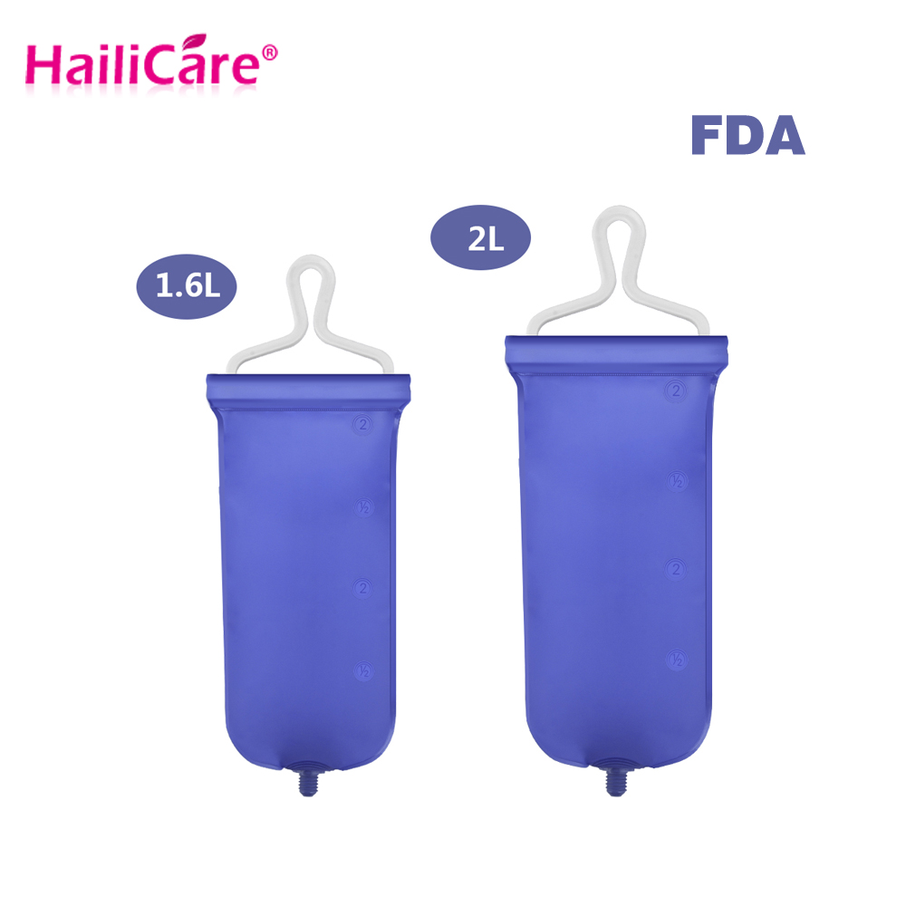 O FDA Aprovou 1600 mL 2000 mL Dobrável Saco Intestino Enema Ducha Vaginal Anal Cleaner Limpeza Lavar Lavador Constipação