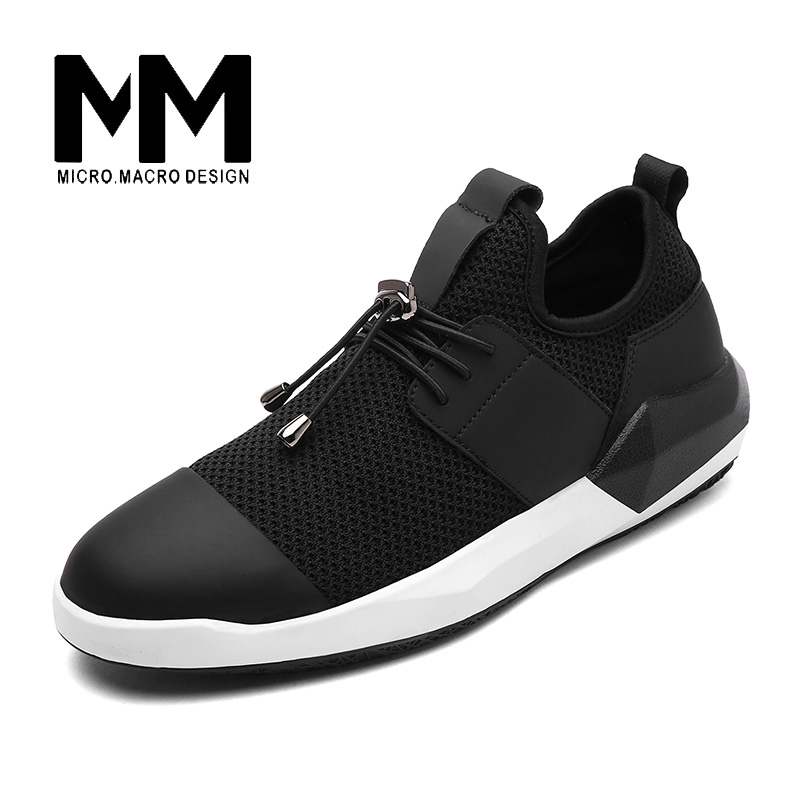 ФОТО MICRO. MACRO  Men Casual Shoe 2017 Spring New Design Light weight Breathable Mesh Trainers shoe men shoe 1706