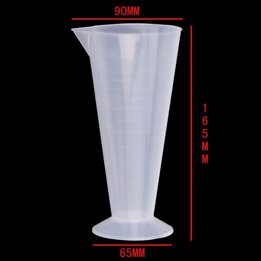 Affordable 250 Ml Transparent Plastic Cone Measuring Cups