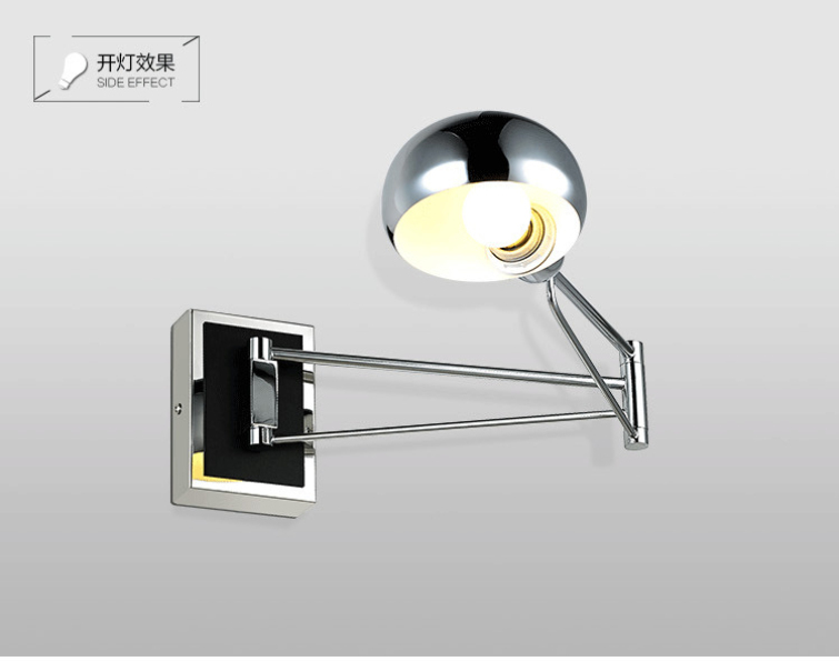 Wall Lamp With Extending Arm : Led wall lighting extend swing arm wall lamps modern wall sconce led indoor mirror lights-in ...
