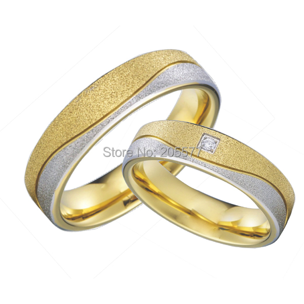 gold color hypoallergenic health titanium cheap wedding bands couples rings sets for men and women aneis - Hypoallergenic Wedding Rings