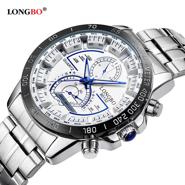 bbdbeff8a5e Fashion Longbo Brand Man Watches Luxury Men Military Wristwatches Full  Steel Male Sports Watch Waterproof Relojes Hombre Relogio
