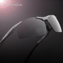 VEITHDIA gafas de sol polarizadas de aluminio para hombre, lentes rectangulares sin montura, accesorios para hombre, 6535