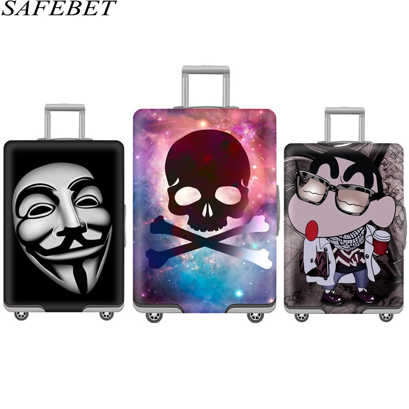 SAFEBET Brand New Elastic Thicken Luggage Suitcase Protective Cover For19-32 inch Protect Dust Bag Case Cartoon Travel Cover
