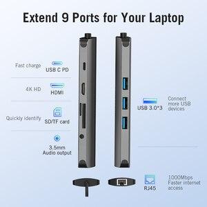 Image 2 - Vention Thunderbolt 3 Dock USB רכזת סוג C כדי HDMI USB3.0 RJ45 מתאם עבור MacBook סמסונג דקס S8/S9 huawei P30 פרו usb c מתאם