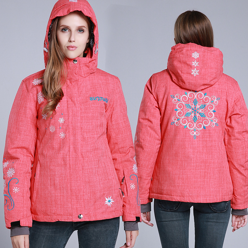 цена Snowboard Jacket Women Windproof Waterproof Ski Jacket Breathable Snow Sportswear Ski Clothing Warm
