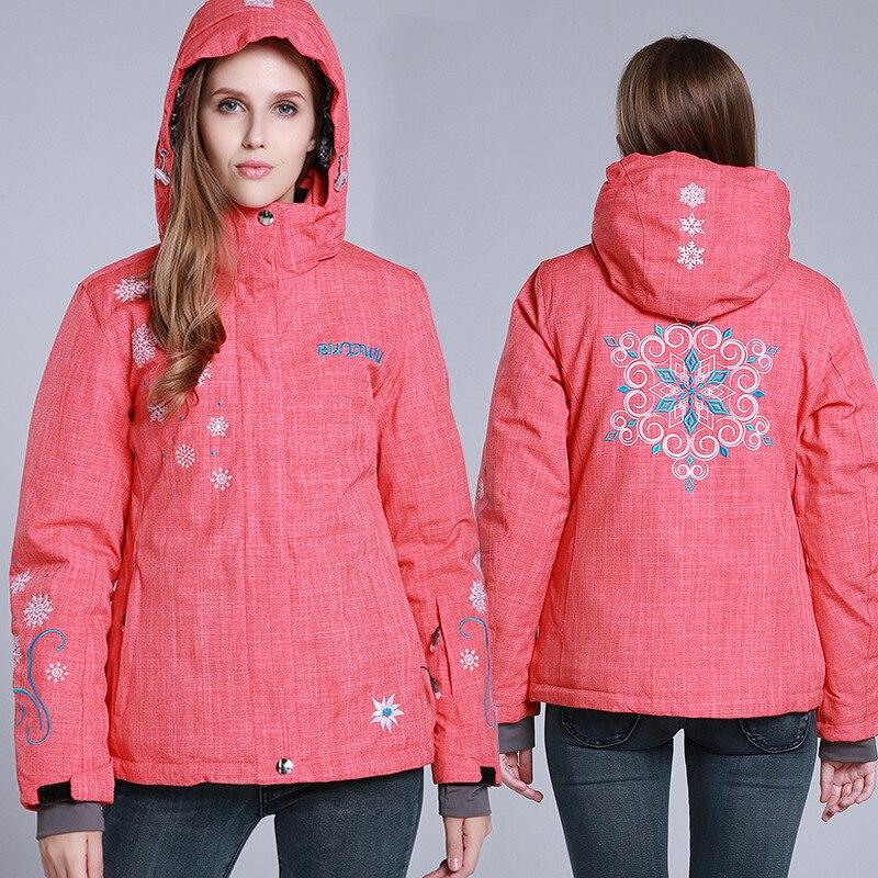 Prix pour Snowboard Veste Femmes Coupe-Vent Imperméable Veste de Ski Respirant Vêtements De Sport De Neige Vêtements de Ski Chaud