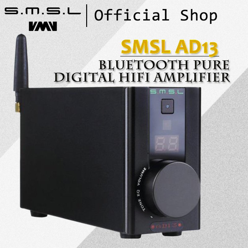 SMSL AD13 Bluetooth Pure Digital HIFI Amplifier 50W*2 USB Decoding Bluetooth 4.0 Power Amplifier with Remote Control Black 2018 tda7492 bluetooth amplifier fiber optic coaxial usb dac decoding amplifier 50w 50w hifi amplifier