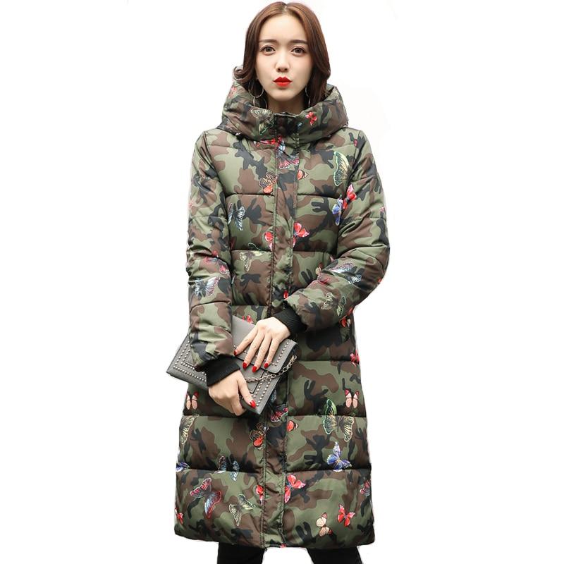 2019 Women Winter Jacket Down Cotton Long Warm Thicken Female Coat Hooded   Parka   Snow Wear Plus Size 3XL Casaco Feminina Inverno