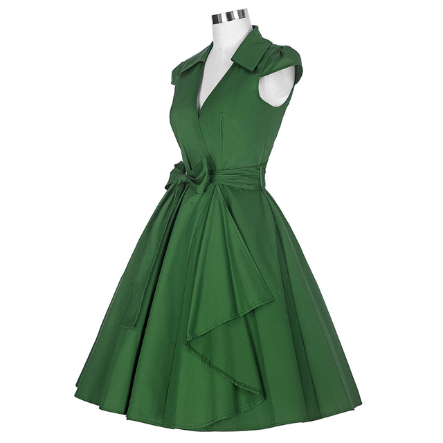 Belle Poque 2017 Pin Up Plus Size Women Clothing Summer Casual Party Office Gown Robe ete Sexy 50s Vintage Big Swing Dresses