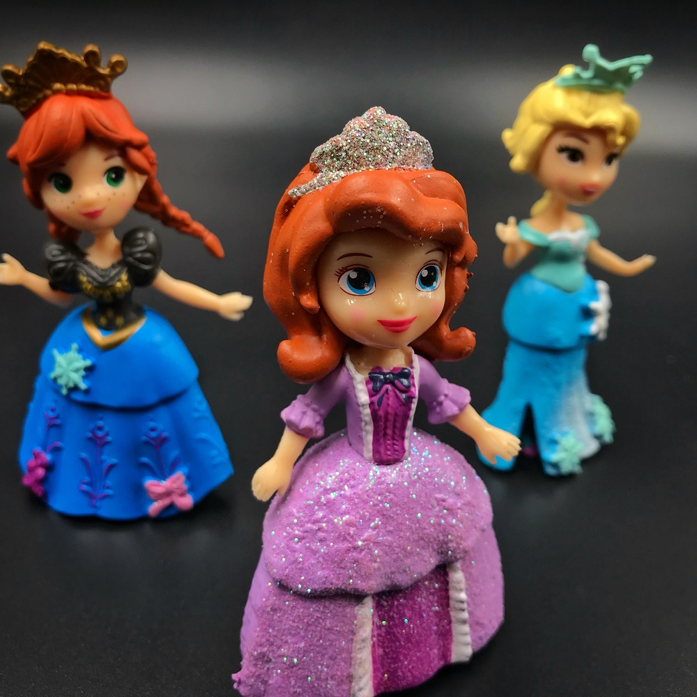 6 pcs set Kids my cute little Anna and Elsa Toy Action dolls poni for children toys vinyl doll CHRISTMAS GIFT FOR GIRL in Action Toy Figures from Toys Hobbies