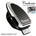 Carbonia gafas de Sol Gafas de Automóviles Clip de Pinza Clip de las gafas, notas, cartas juntas Dom Clip del visor 2.99x1.18 pulgadas