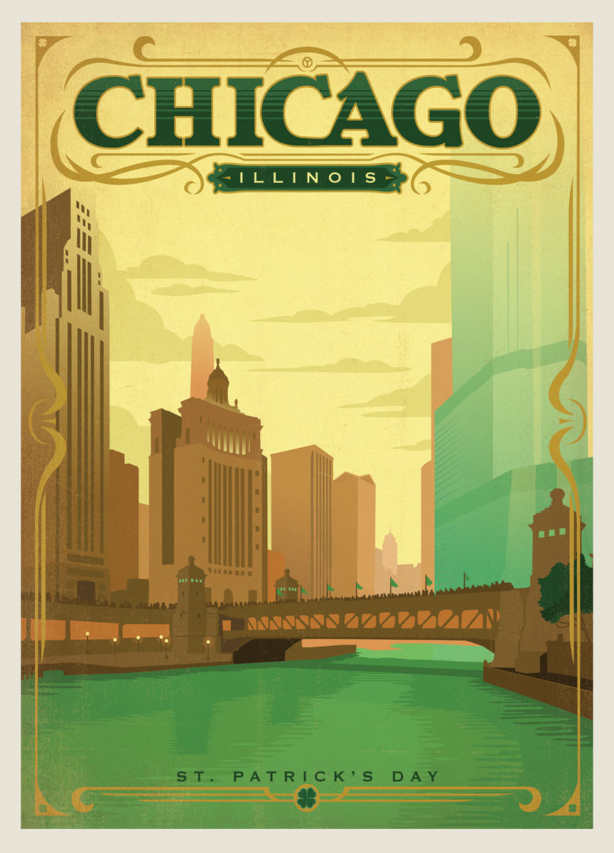 Compare prices on vintage chicago posters online shopping for Vintage chicago posters