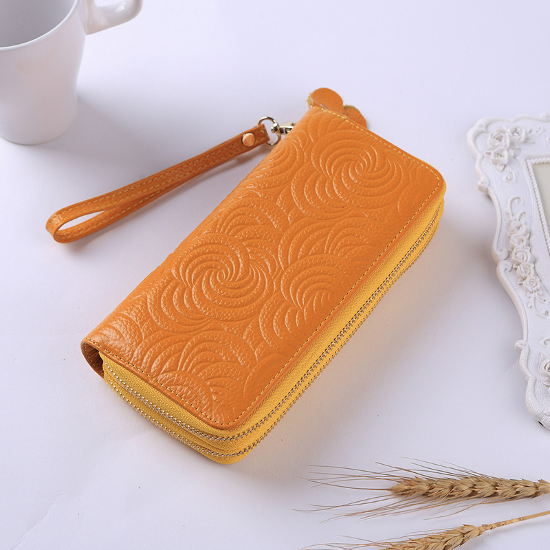 Genuine Leather Women Wallet Luxury Brand Casual Lady Coin Purse Fashion Long Women Wallet Girl Clutch Purse Carteira Feminina