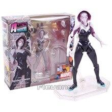Revoltech série no.004 spiderman gwen stacy aranha gwen pvc figura de ação collectible modelo brinquedo 15cm