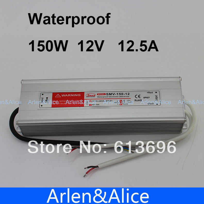 150W 12V 12.5A Waterproof outdoor Single Output Switching power supply SMPS AC TO DC