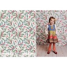 Baby Girl's Photo Studio Fundo Vermelho Impresso Flores Folhas Verdes Padrões Cenários de Fotografia Newborn Adereços Crianças dos miúdos
