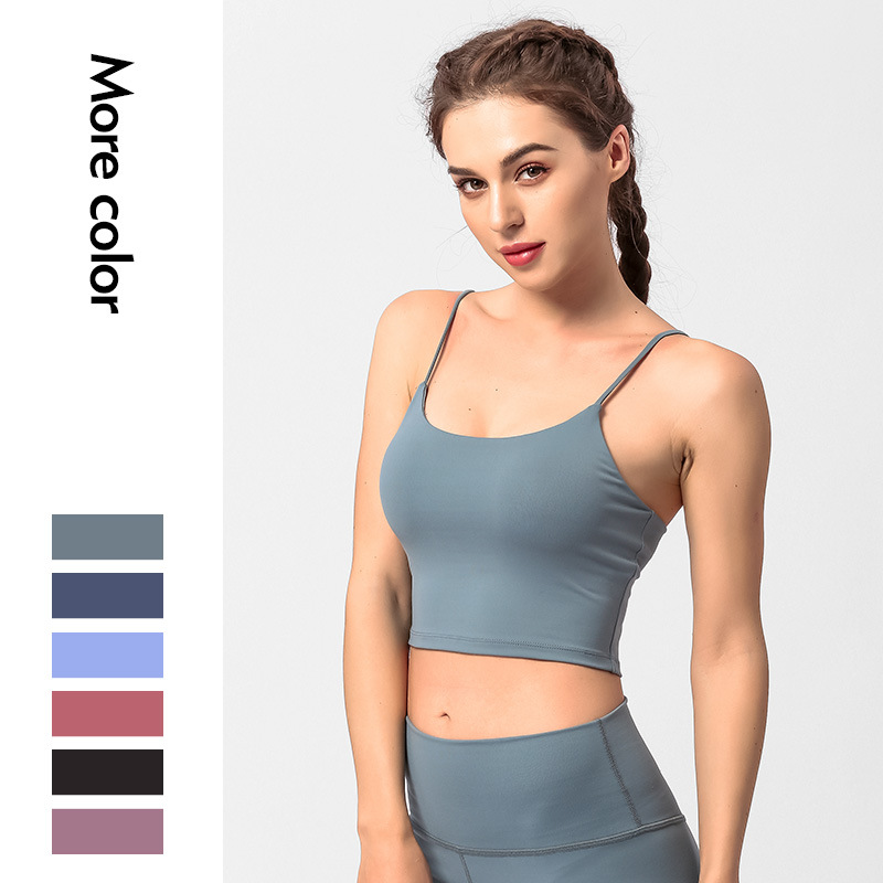 2019 Yoga Clothes Set Female Workout Clothes Quick Drying Stretch Hip Pants Seamless Yoga Pants Sleeveless Strappy Sports Bra