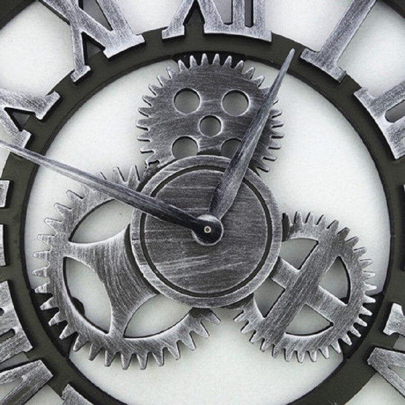 3D Retro Gear Wall Clock Wandklok Wall Clocks Saat Vintage Watch